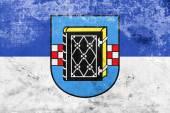 Fotografie Flagge von Bochum mit Wappen, Deutschland