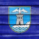 Флаг Опатия, Хорватия, роспись на фоне старой древ&#x4