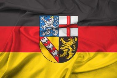 Waving Flag of Saarland, Germany