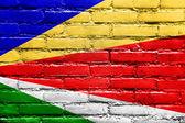 seychelská vlajka maloval na zdi