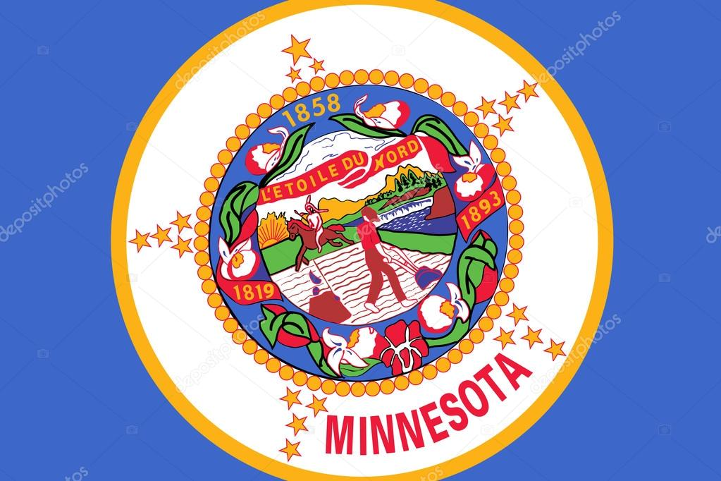 Minnesota State Flag Close Up Stock Photo Promesastudio 54385081