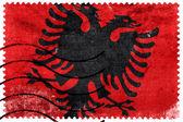 Bandiera Albania - Vecchio francobollo