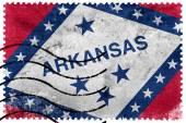 Arkansas státní vlajka - staré poštovní známka