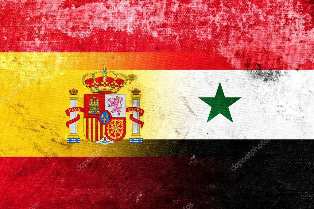 Syrie et drapeau d 39 espagne avec un mill sime vieux look photographie promesastudio 84009630 - Drapeau d espagne a colorier ...
