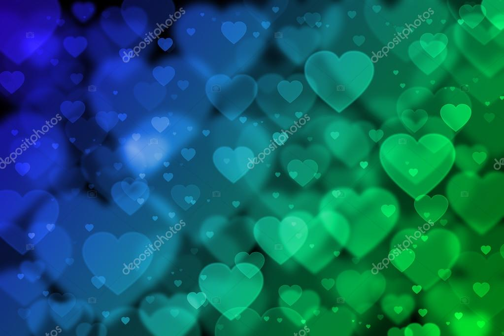 green hearts background - photo #13
