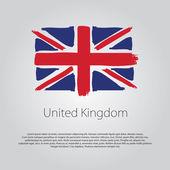 Vereinigtes Königreich Flagge mit farbigen, handgezeichneten Linien im Vektorformat
