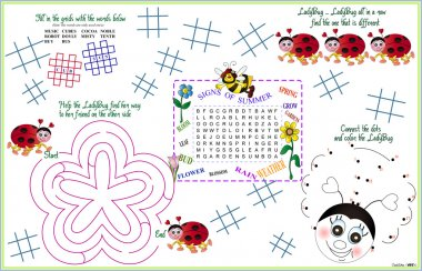 Placemat Spring-Summer Printable Activity Sheet 5