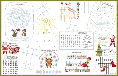 Placemat Christmas Printable Activity Sheet 1
