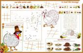 Placemat Thanksgiving Printable Activity Sheet 1