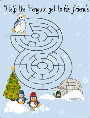 Penguin Maze Skating Rink Puzzle