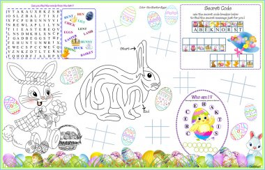 Placemat Easter Printable Activity Sheet 10