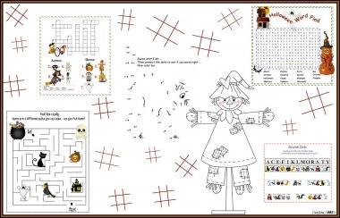 Placemat Halloween Printable Activity Sheet 11