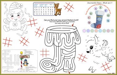 Placemat Christmas Printable Activity Sheet 8