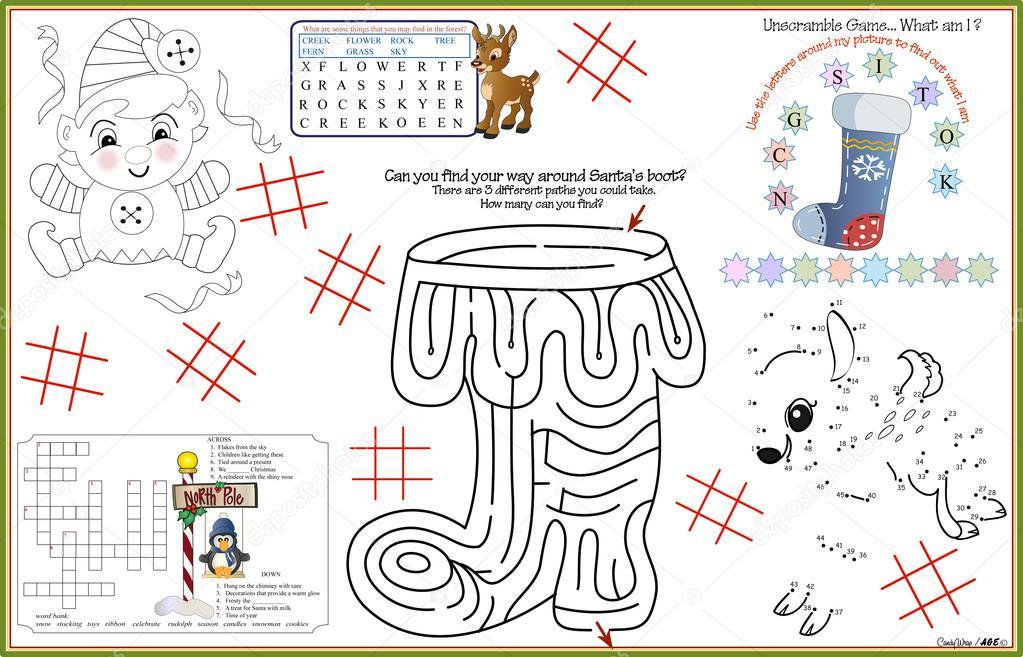 Hoja de actividades imprimibles de Navidad mantel 8 — Archivo ...
