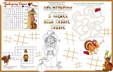 Placemat Thanksgiving Printable Activity Sheet 5
