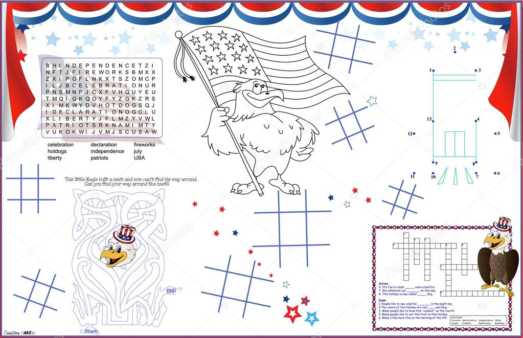 Placemat July 4th Printable Activity Sheet 6