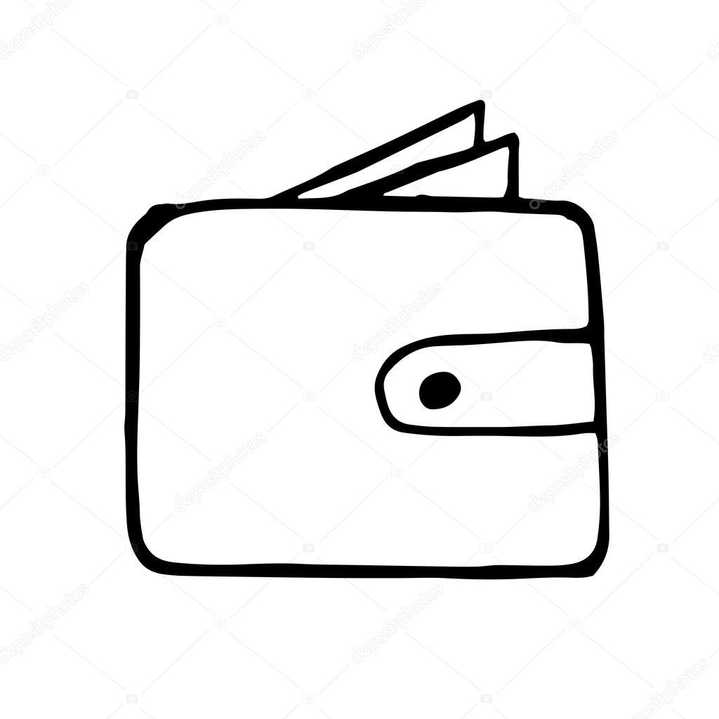 Dessin Porte Monnaie porte-monnaie doodle dessin — image vectorielle dimgroshev © #103157446