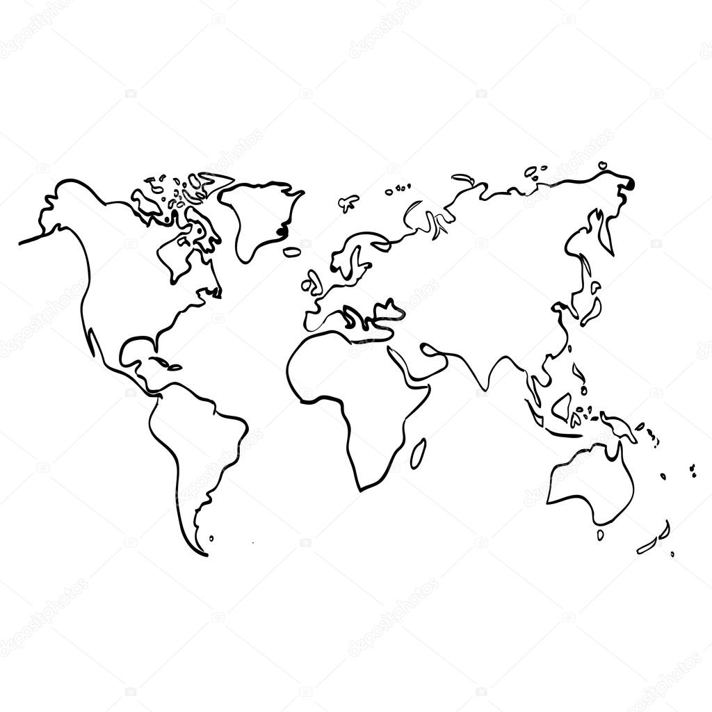 World map on white vector de stock dimgroshev 104672134 vector world map on white background black illustration vector de dimgroshev gumiabroncs Gallery