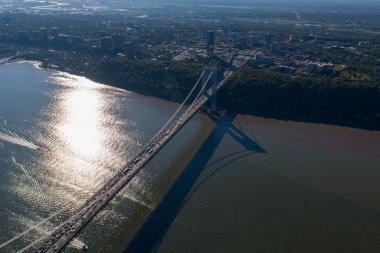 Aerial View of George Washington Bridge, New York & New Jersey