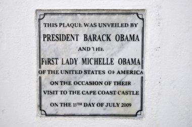 Cape Coast Castle Obama Plaque, Ghana