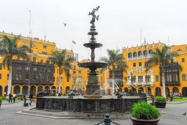 Plaza de Armas (Plaza Mayor) of Lima, Peru