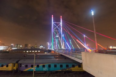 Nelson Mandela Bridge at night - Johannesburg