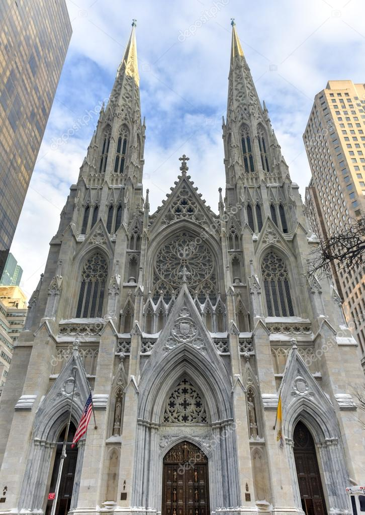 saint patrick s cathedral nyc stock photo demerzel21 98842350