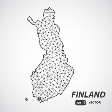 Low poly map of Finland