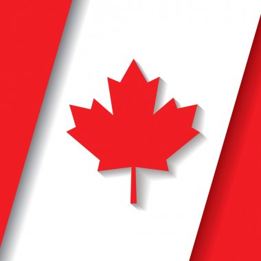 Canada flag background with shadow
