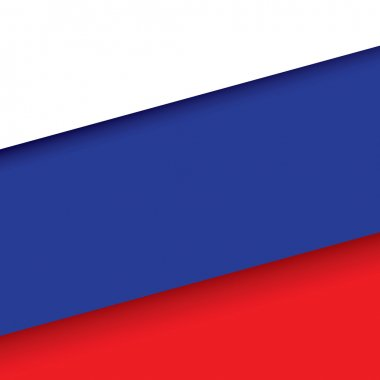 Russia flag background with shadow