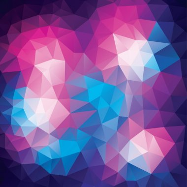 Abstract polygonal background from colorfull triangles in geometrical lines