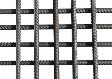 Bunch of several reinforcement bars isolated
