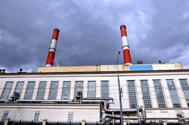 Industrial pipes heat electric station