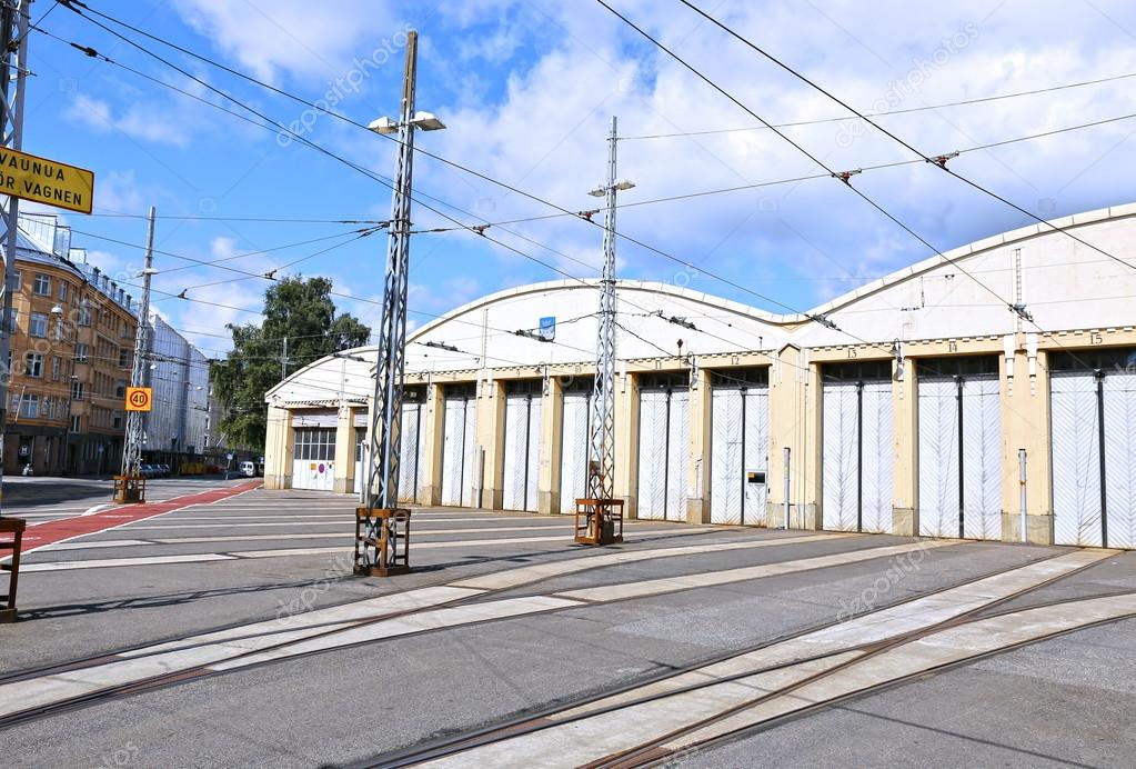 Трамвайное депо в хельсинки