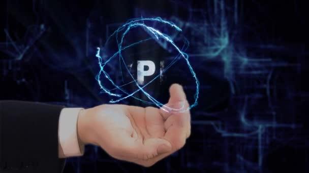 Bemalte Hand zeigt VPN