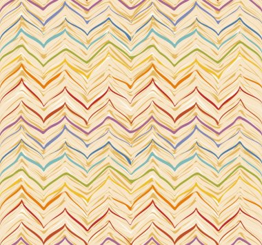 Colorful stripes seamless zigzag pattern. Abstract background wi