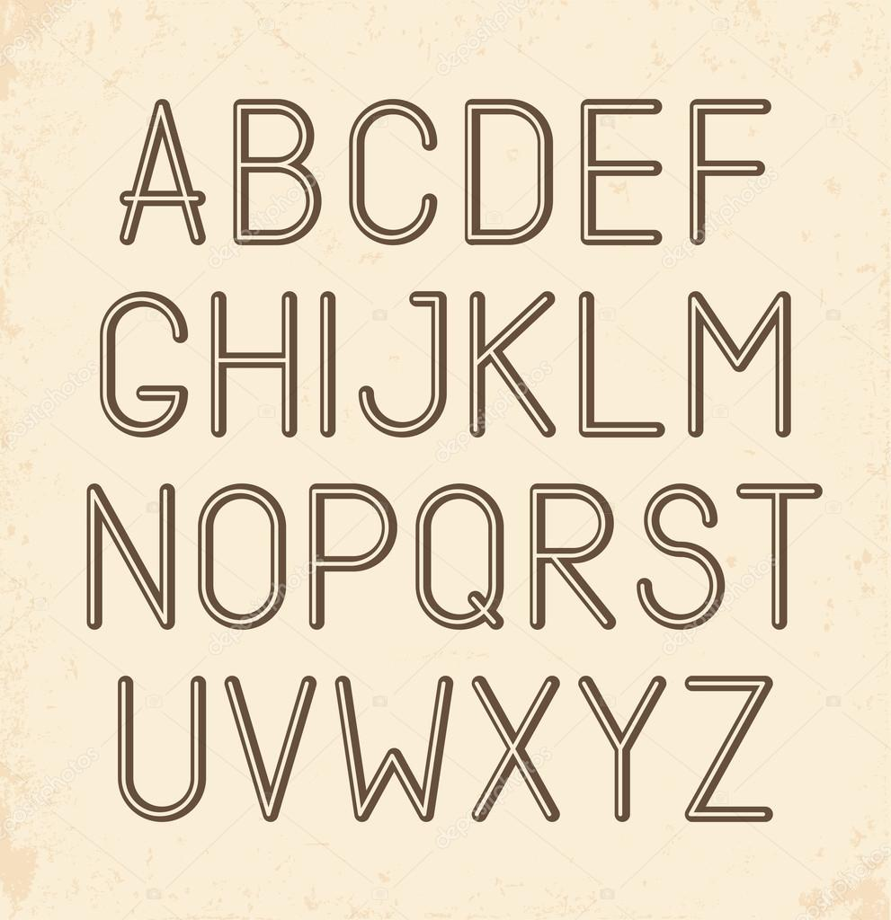 Retro Alphabet Type Font Vintage Typography Poster Vector By Portarefortuna