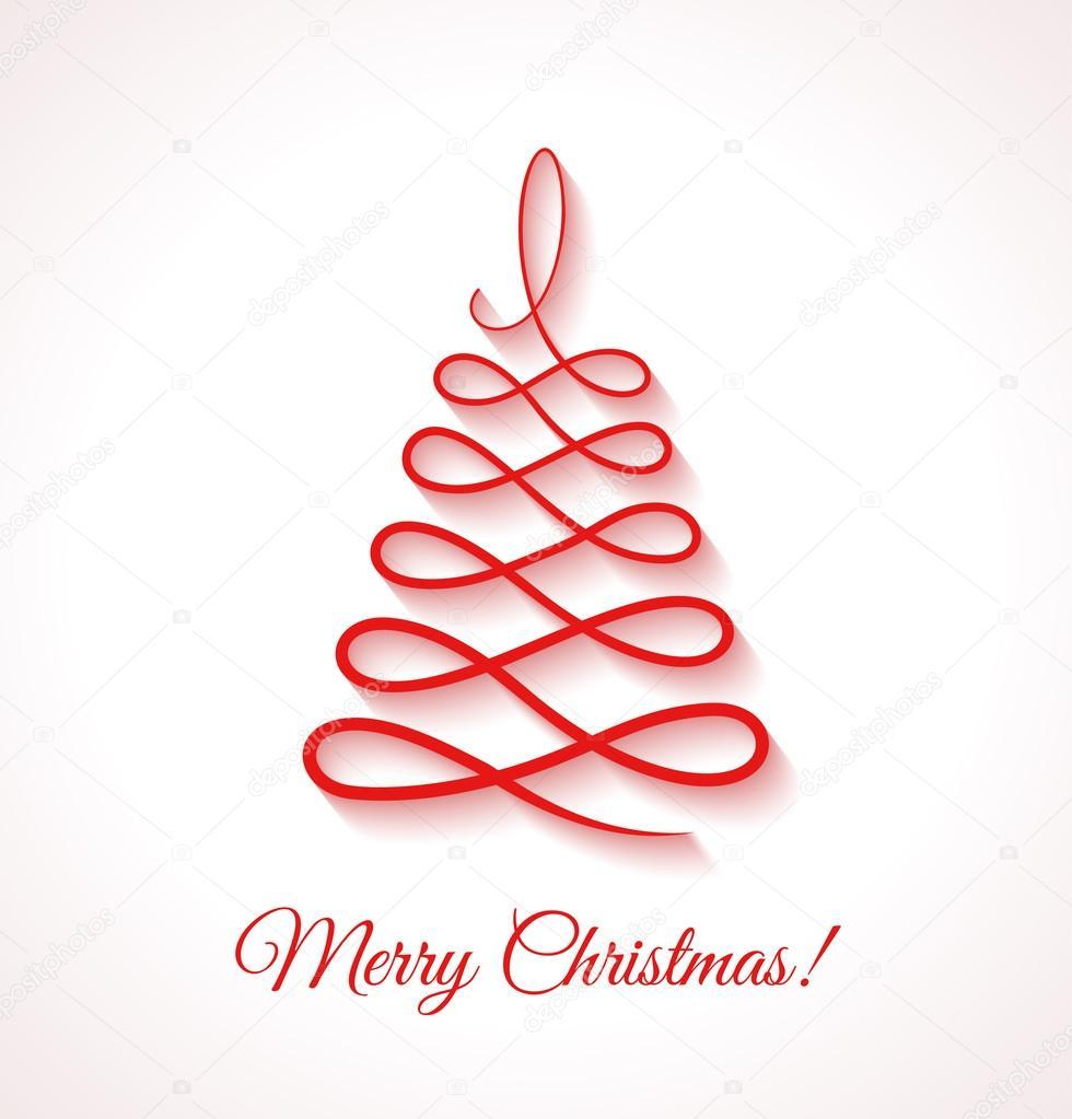 Abstracto rbol de navidad rojo sobre fondo blanco archivo im genes vectoriales Disenos de arboles de navidad