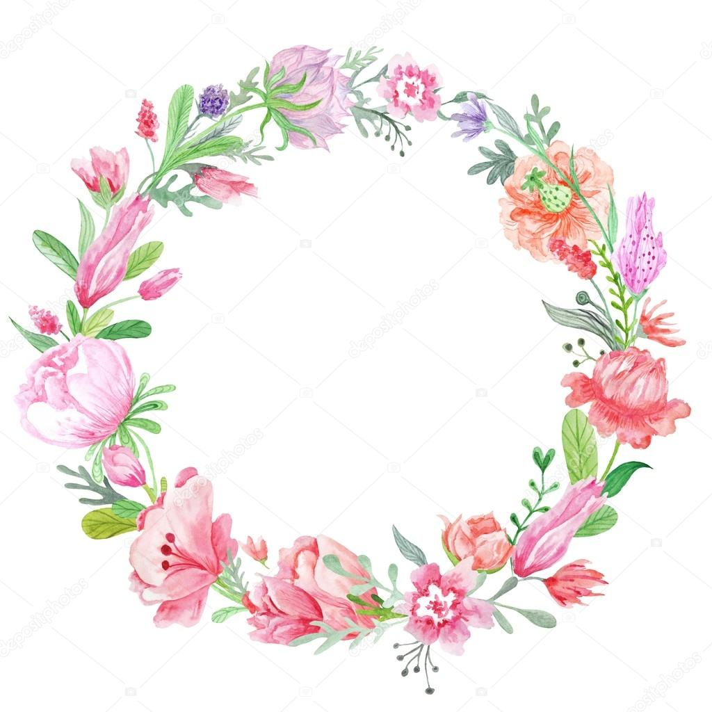 Romantic Meadow Floral Wreath