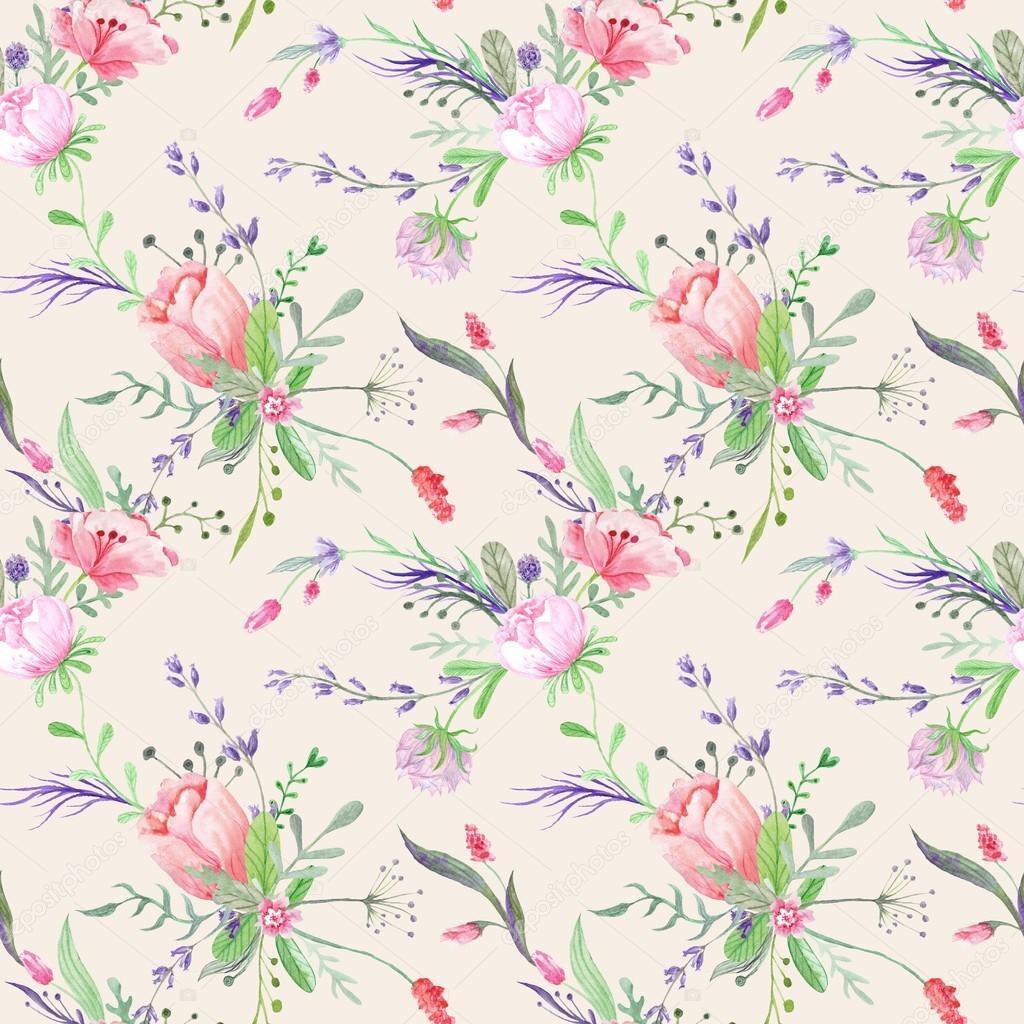 Vintage Provence Watercolor Texture