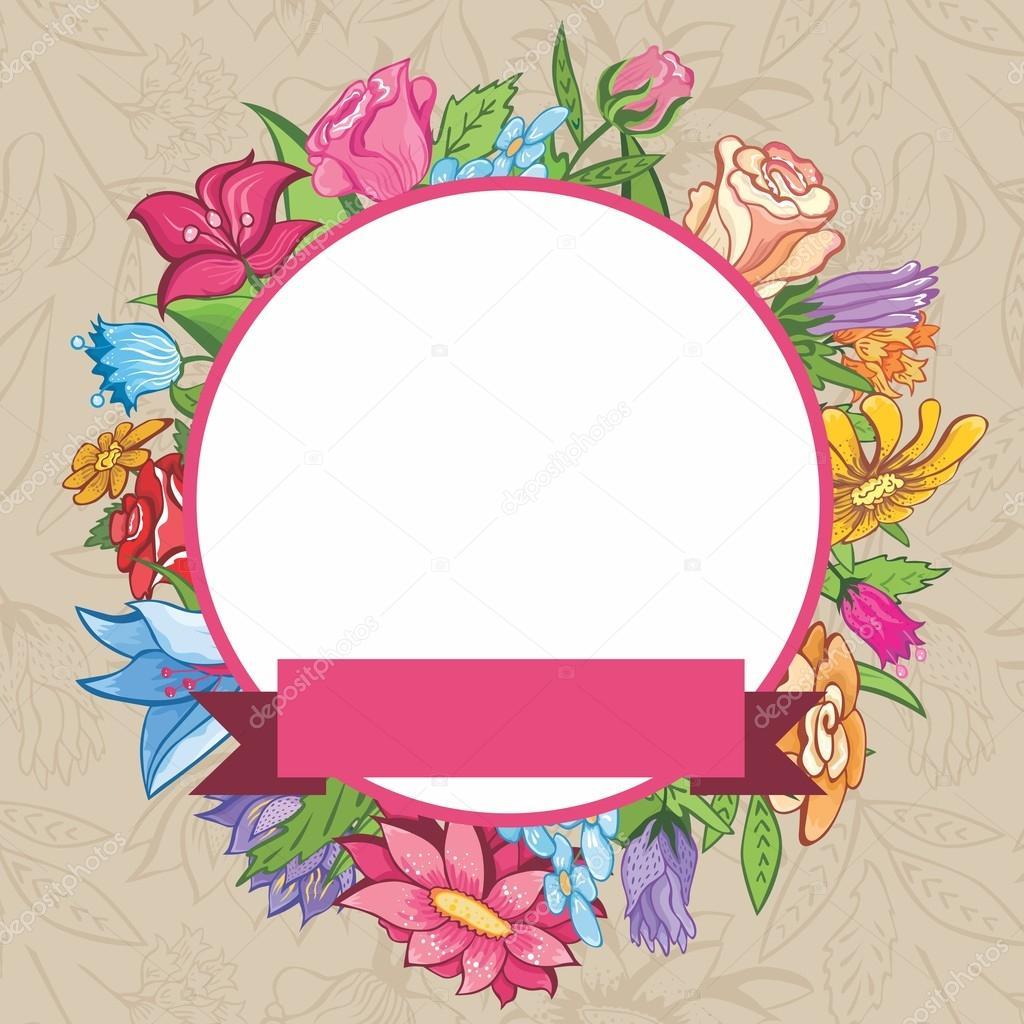 marco flores vintage Vector — Archivo Imágenes Vectoriales © kisika1 ...