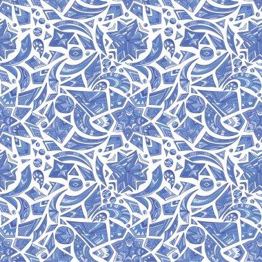 Creative blue tribal pattern