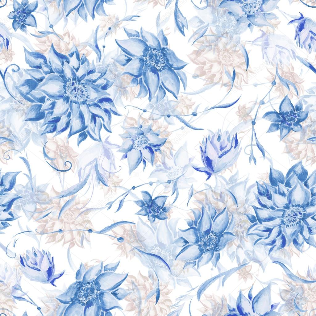 Soft blue and brown vintage pattern
