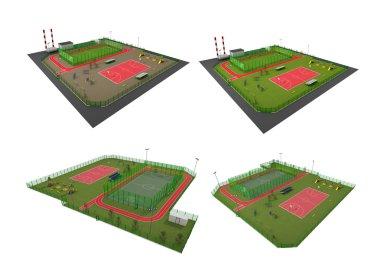 Street Sport Fields 3D Model