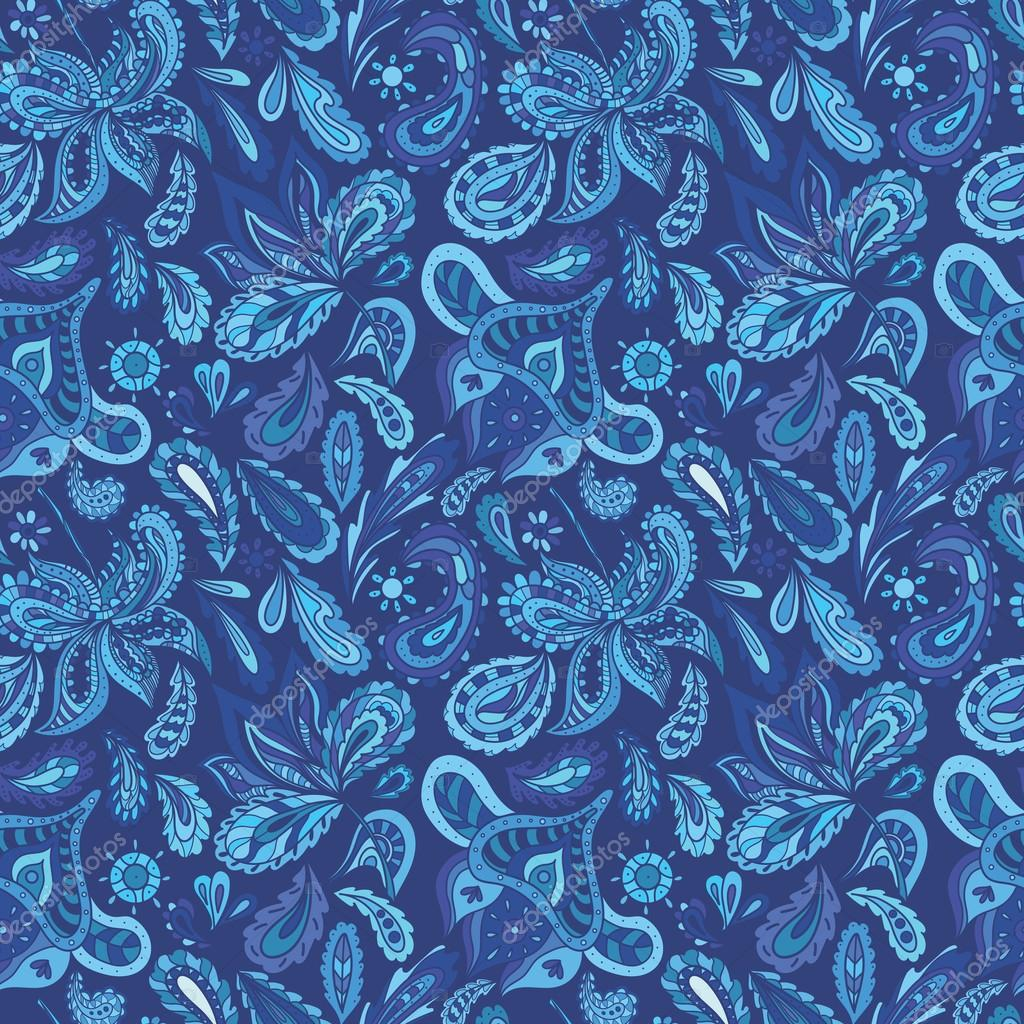 Blue Fresh Indian Vector Pattern