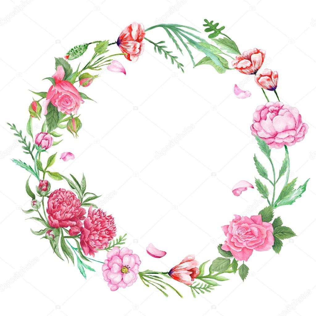 Shabby Chic Floral Wreath Stock Photo 79481538
