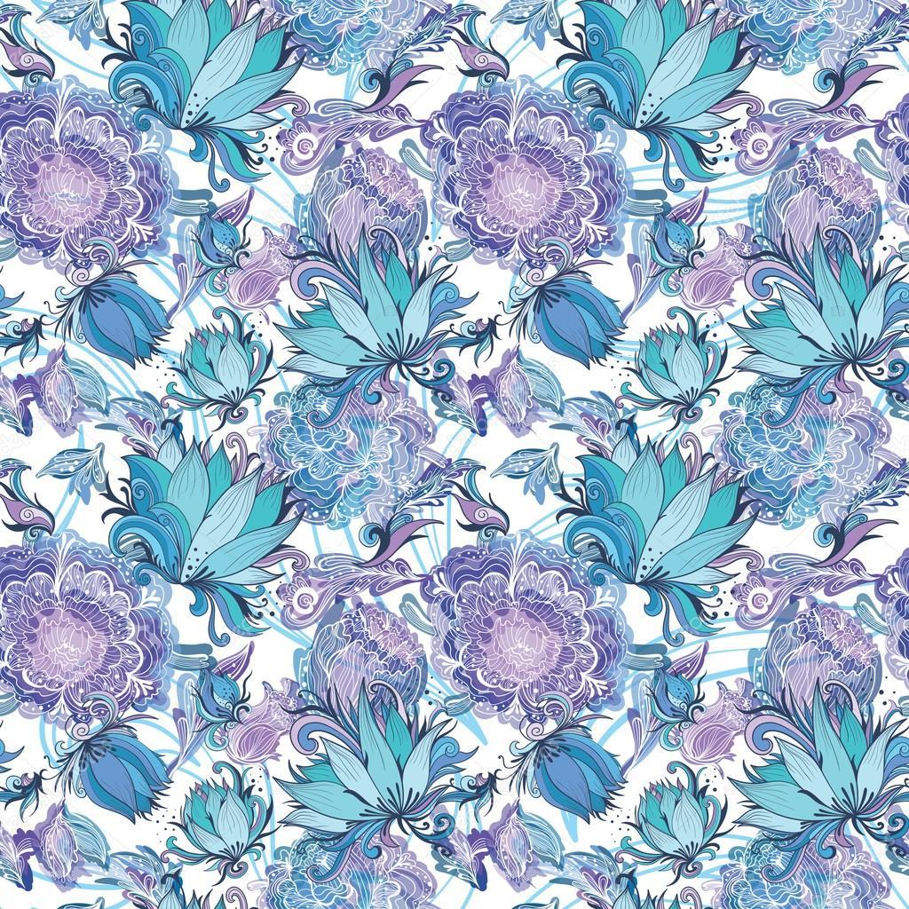 Elegant Romantic Vector Floral Pattern