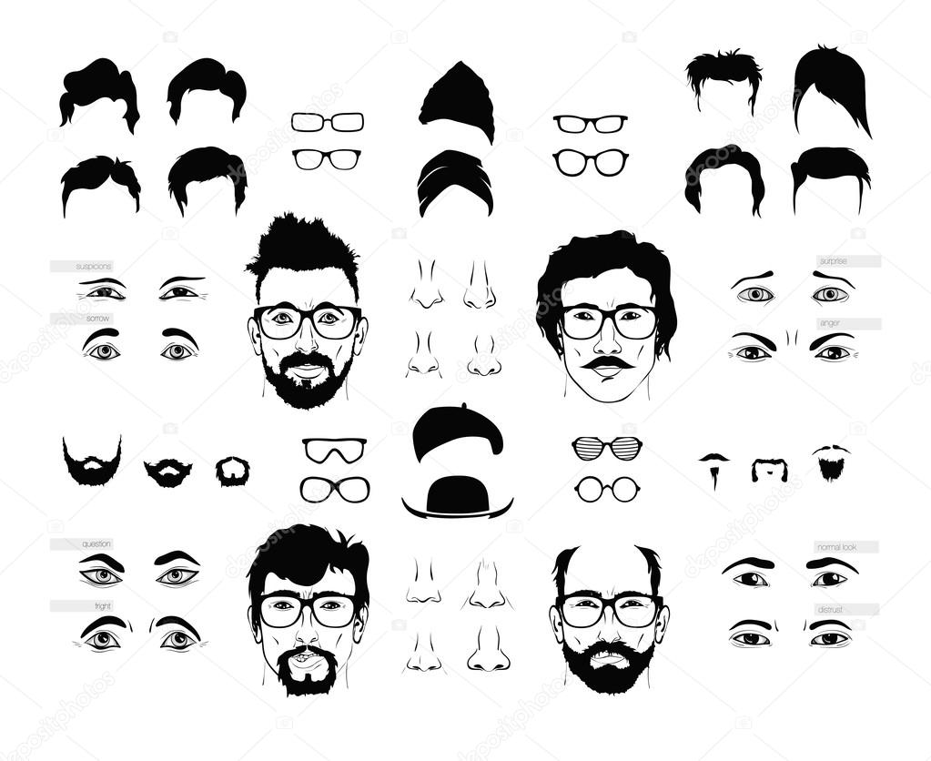 beard mustache and haircut � stock vector 169 panaceadoll