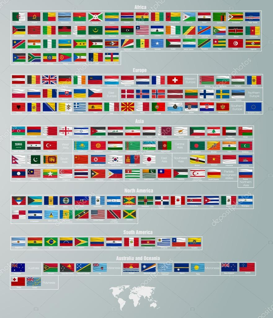 Flags of countries  collection