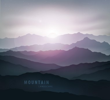 dark blue mountains landscape